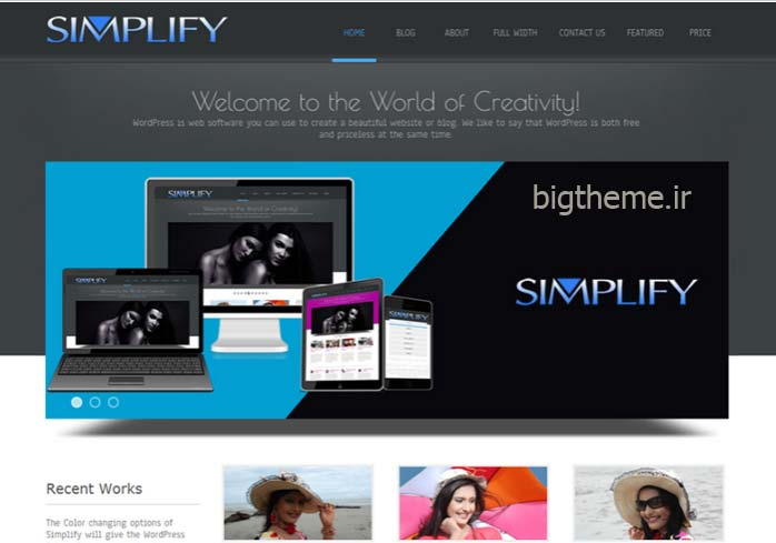 قالب وردپرس وبلاگی Simplify