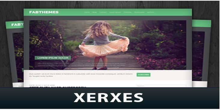 قالب وردپرس وبلاگی xerxes