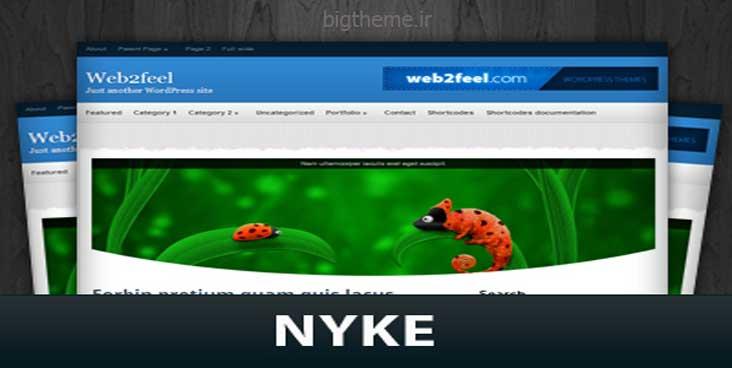 قالب وردپرس مجله ای nyke