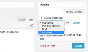چگونه مخفی کردن مطالب بایگانی بدون حذف آنها