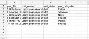اضافه کردن نوشته با استفاده از فایل CSV اکسل