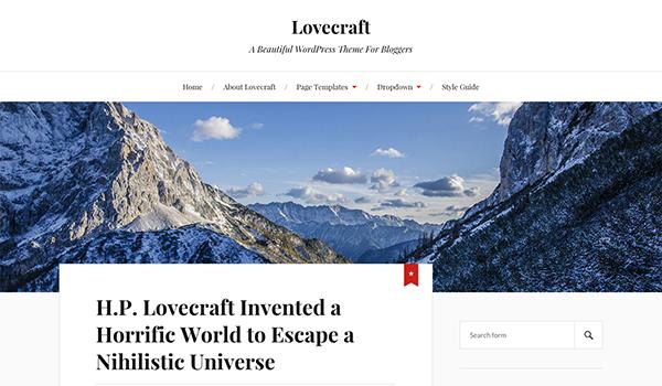قالب چند منظوره Lovecraft