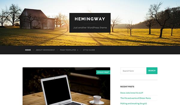 قالب وبلاگی Hemingway