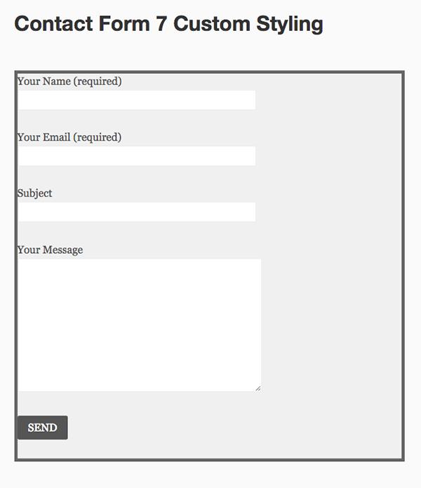نحوه ی ایجاد استایل سفارشی برای فرم تماس