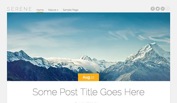 قالب وبلاگی Serene