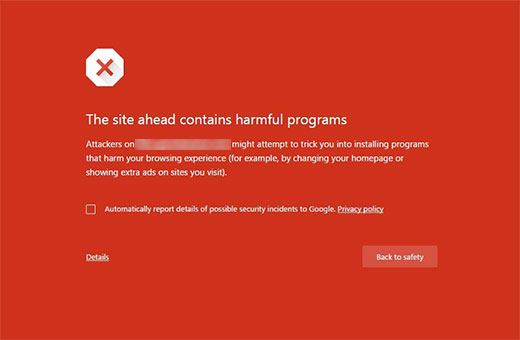 "علت خطای ""This site ahead contains harmful programs"" چیست؟"