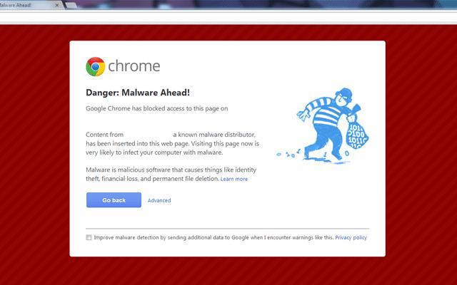 """رفع خطای """"This site ahead contains harmful programs"""""""