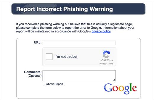 حذف هشدار Removed by Google برای ورود به وب سایت