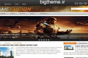 پوسته بازی GameFusion برای وردپرس