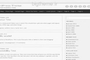 پوسته وبلاگی semprul برای وردپرس