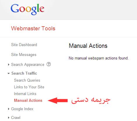 جریمه دستی یا Manual Actions گوگل به چه معناست؟