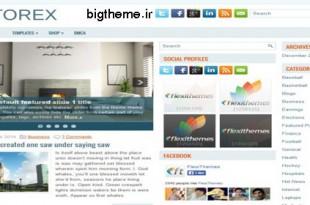 پوسته وبلاگی Storex برای وردپرس