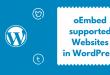 oEmbed-Supported-websites-whitelist-WordPress