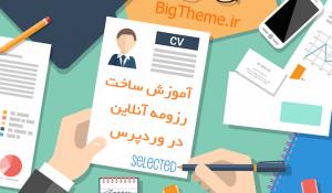 آموزش ساخت رزومه آنلاین در وردپرس