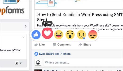 نحوه اضافه کردن واکنش های لایک فیس بوک به وردپرس