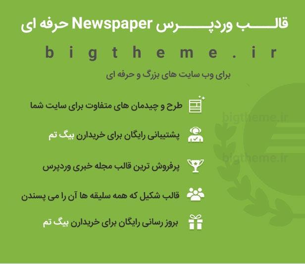 قالب وردپرس وبلاگی مجله خبری Newspaper