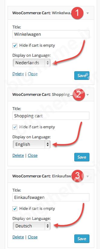 افزونه WPML Widgets