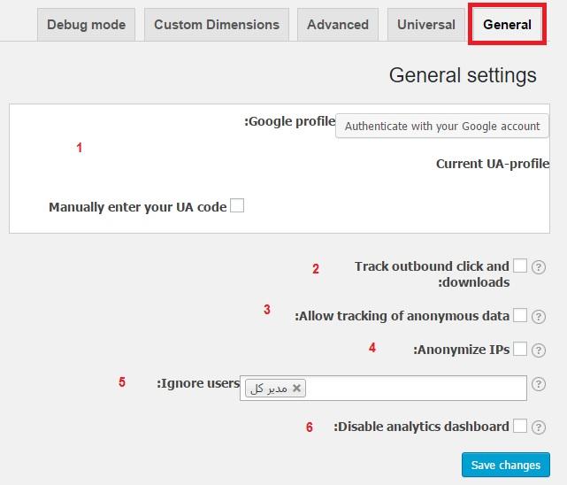 افزونه ای برای گوگل آنالیز در وردپرس