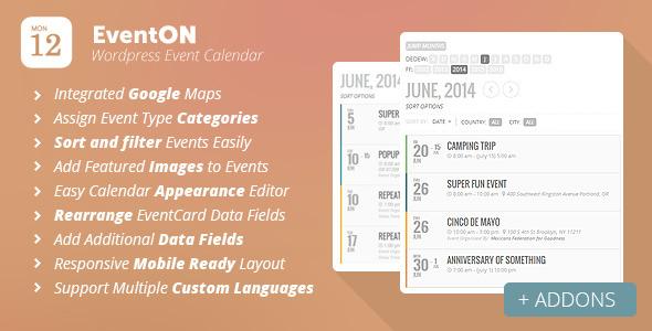 ایجاد تقویم رویدادها در وردپرس با افزونه EvenOn
