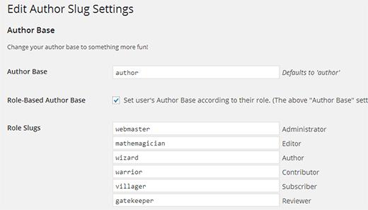 تغییر آدرس پیش فرض Author در آدرس نویسنده