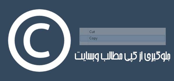 افزونه جلوگیری از کپی مطالب وبسایت