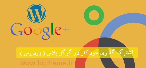 افزونه اشتراک گذاری خودکار در گوگل پلاس - افزونه wpgplus