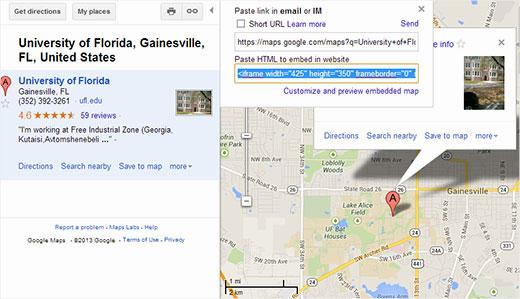 نحوه ی قرار دادن گوگل مپ در سایت