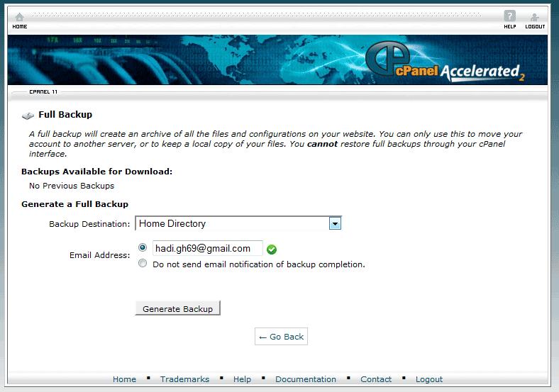 نحوه بک آپ گرفتن از سایت
