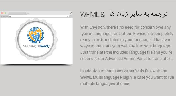 به سایر زبان ها با افزونه WPML