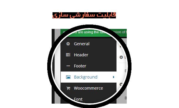قالب با کنترل پنل تنظیمات حرفه ای و کاملا فارسی