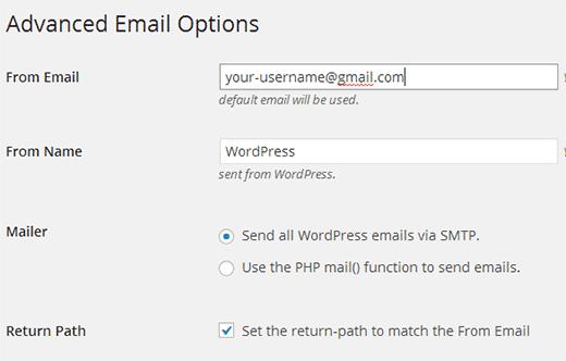 دریافت ایمیل از لوکال هاست در وردپرس